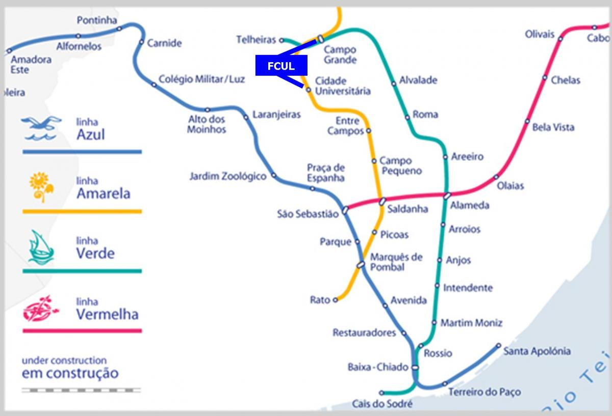 How To Get There Faculdade De Ciências Da Universidade De Lisboa - Portugal map metro