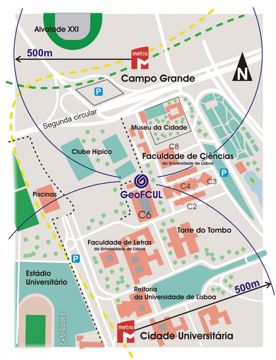mapa de lisboa campo grande Introdução   Geodiversidade no campus da FCUL mapa de lisboa campo grande