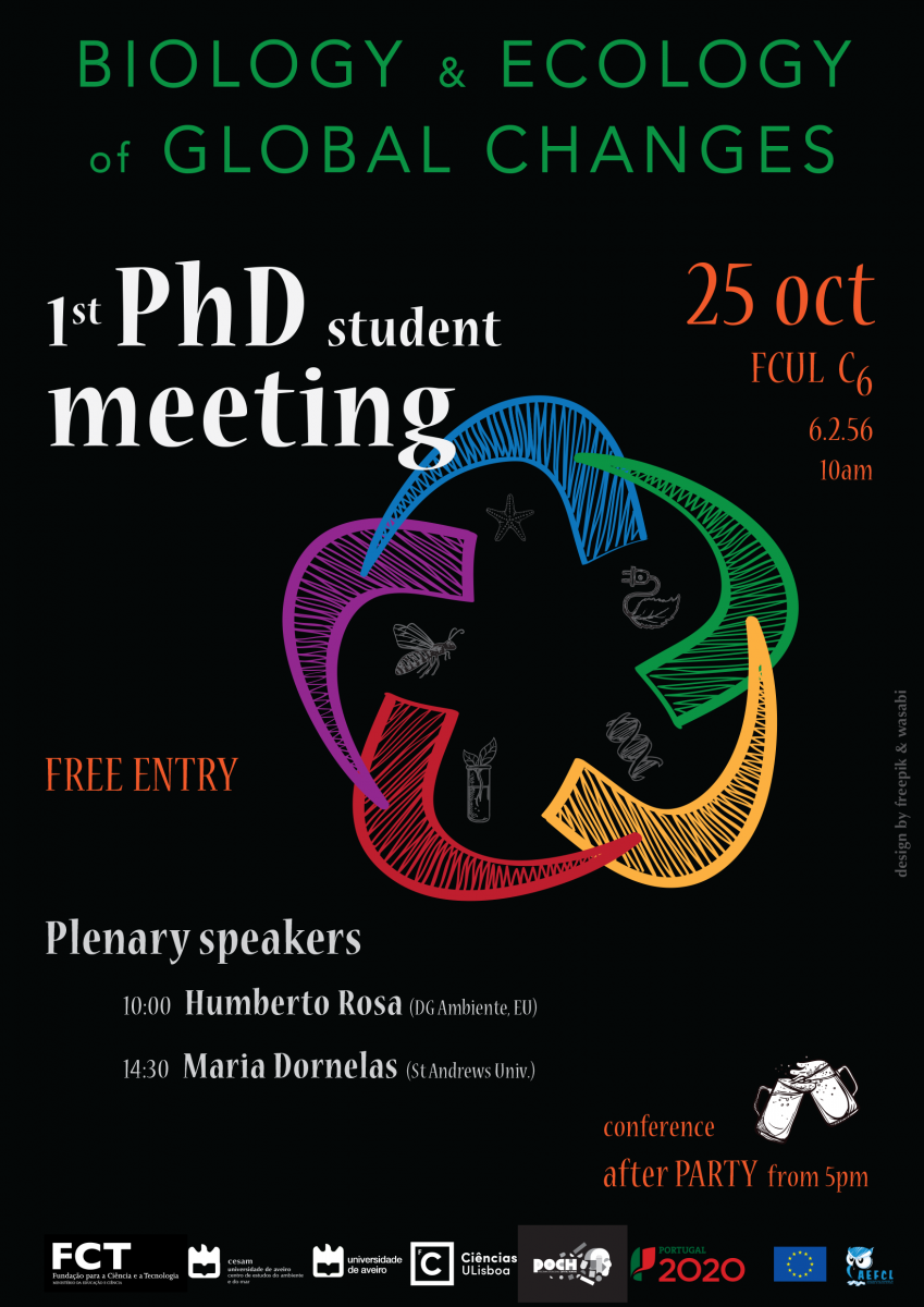 "Cartaz do ""1st PhD Student Meeting - Biology and Ecology of Global Changes"""
