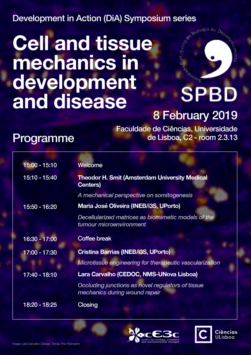 "Development in Action (DiA) Symposium series ""Cell and tissue mechanics in development and disease"""
