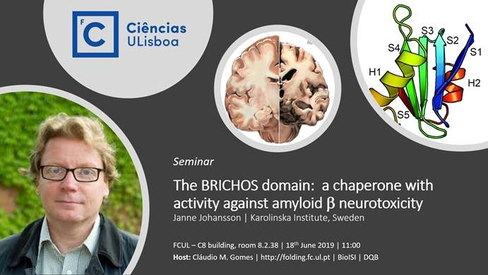 "Seminário ""The BRICHOS domain - a chaperone with activity against amyloid beta neurotoxicity"""