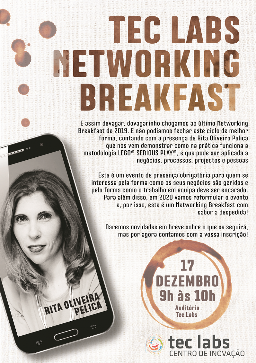 Cartaz da sessão de 17 de dezembro de 2019 do Tec Labs Networking Breakfast