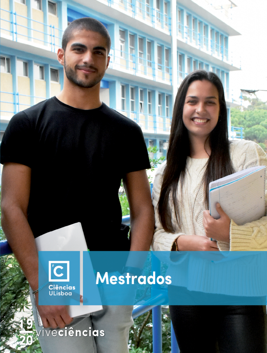 Capa de folheto de Mestrados e Cursos de Pós-Graduação