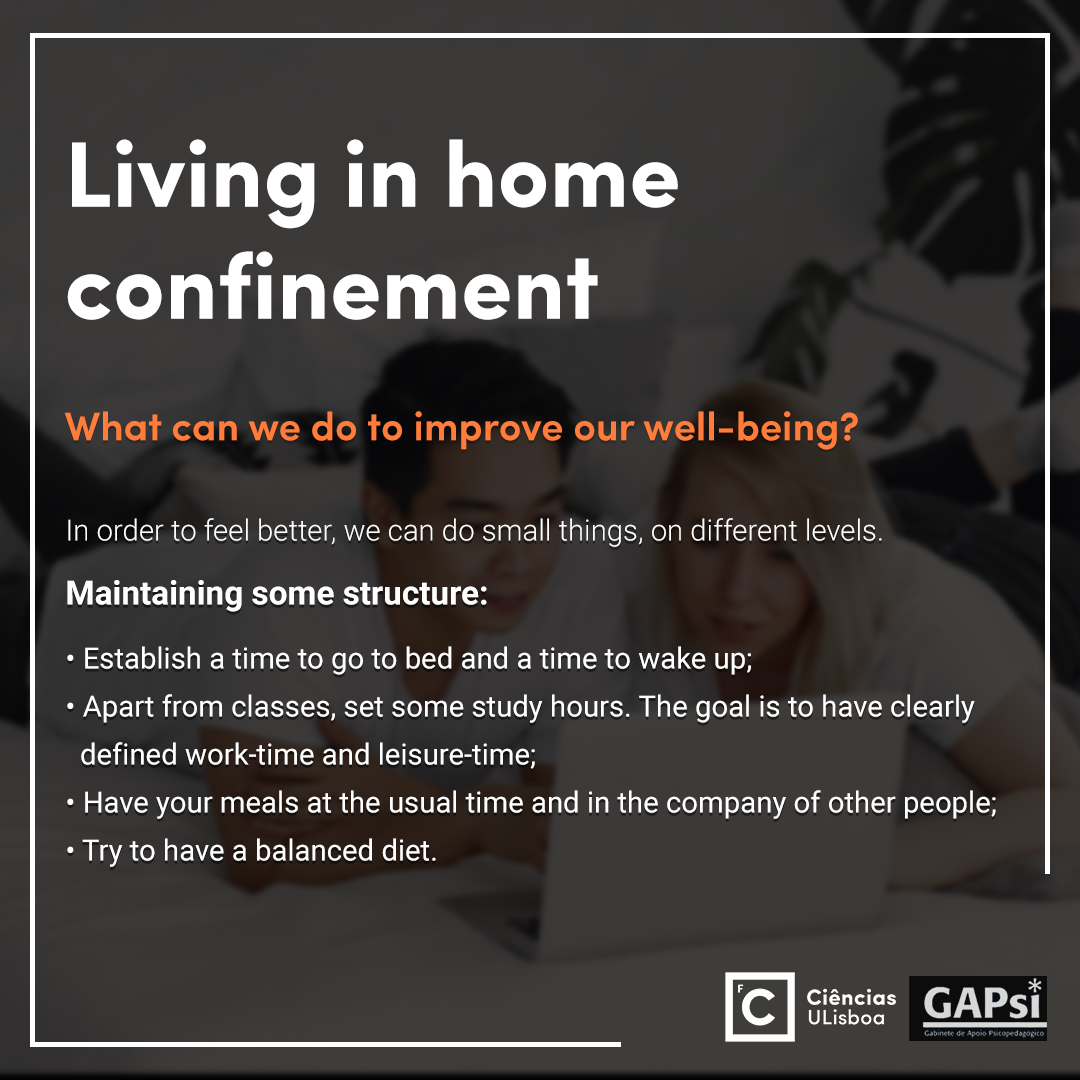 Living in home confinement - Slide 4