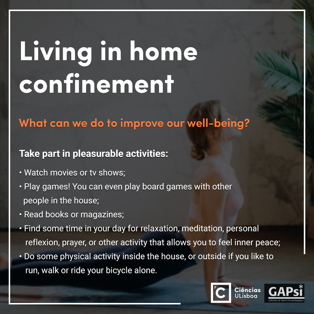 Living in home confinement - Slide 5