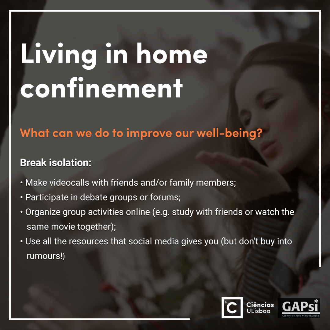 Living in home confinement - Slide 6