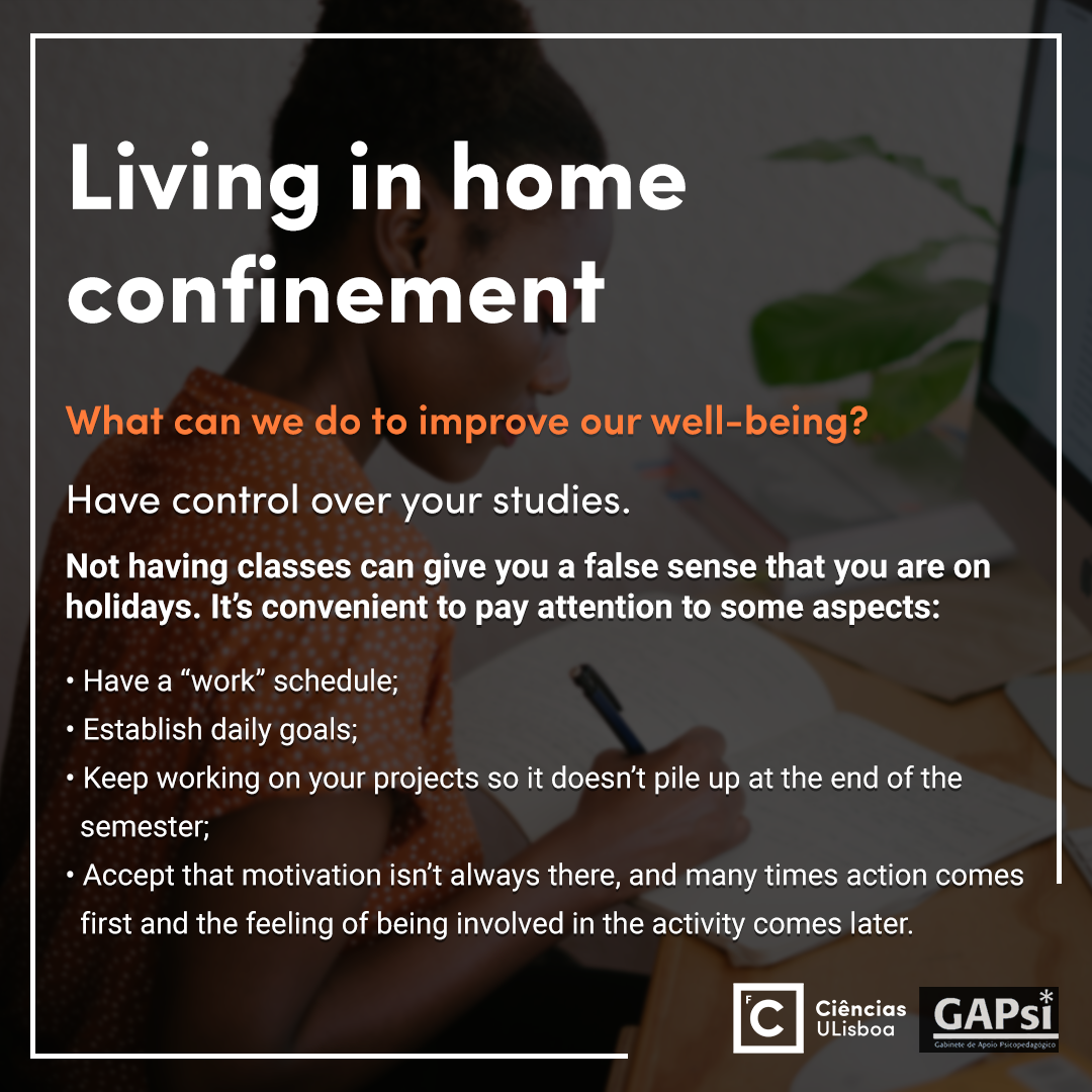 Living in home confinement - Slide 7