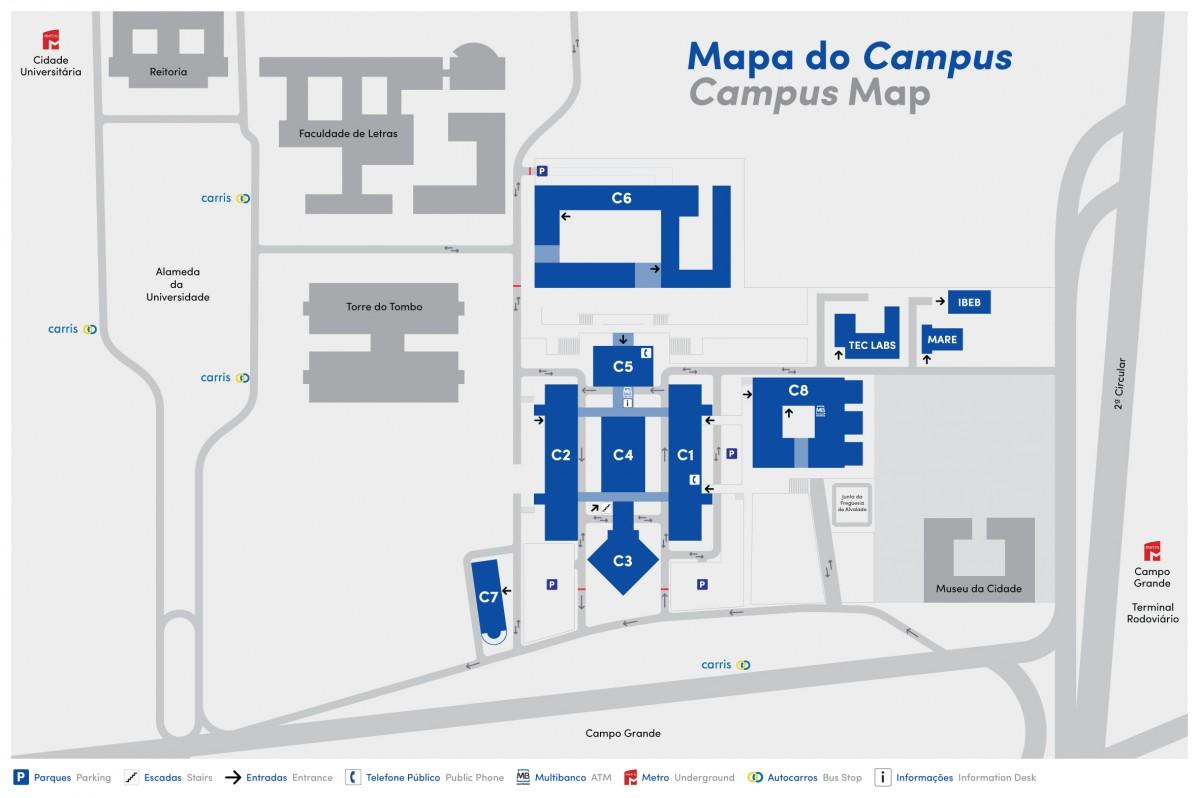 mapa FCUL