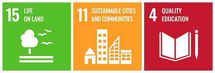 Sustainable Development Goals 15, 11 and 4