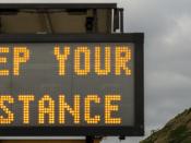 Informação eletrónica de rua: Keep your distance