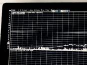 Monitor com gráfico