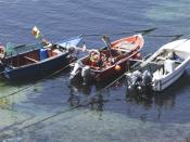 Barcos de pesca em Almograve, Portugal