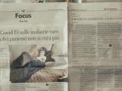 Pessoa lendo um jornal