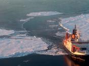 Fotografia de navio de exploração polar