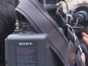 Repórter e câmara de filmar
