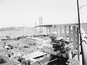 Imagem de arquivo da Ponte sobre o Tejo