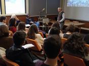 Fotografia de palestra a decorrer nas instalações de Ciências ULisboa