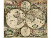 Representação de um mapa antigo