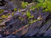 Fotografia de uma formação rochosa