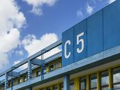 Fotografia de um pormenor do Edifício C5 da Faculdade de Ciências