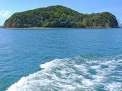 Fotografia de ilha no Oceano Pacífico