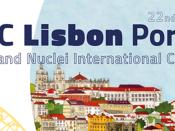 Representação da cidade de Lisboa, acompanhada do título da conferência