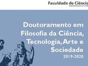 Imagem ilustrativa do Doutoramento em Filosofia da Ciência, Tecnologia, Arte e Sociedade