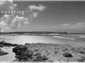Fotografia de paisagem (praia) a preto e branco