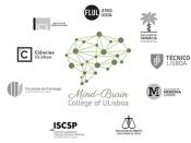 Logótipos do Mind-Brain College of the University of Lisbon e das instituições participantes, sobre um fundo branci