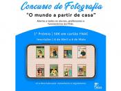 Imagem ilustrativa do concurso de fotografia, acompanhada de várias informações úteis (título, data, participantes e entidade organizadora)