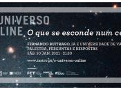 Imagem ilustrativa do evento (céu escuro), acompanhada de várias informações (título, data e hora do evento; orador; logótipos das entidades organizadoras)