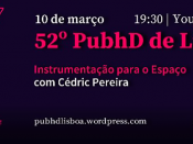 Imagem ilustrativa do evento, acompanhada de várias informações (título, data e hora do evento; orador)