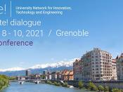 Fotografia da cidade de Grenoble, acompanhada do título e data do evento