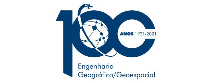 logotipo das comemorações do centenário da licenciatura em engenharia geográfica/geoespacial