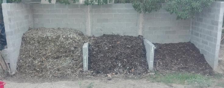 pilhas de compostagem