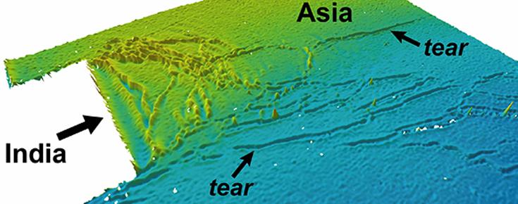 Topografia de um modelo geodinâmico