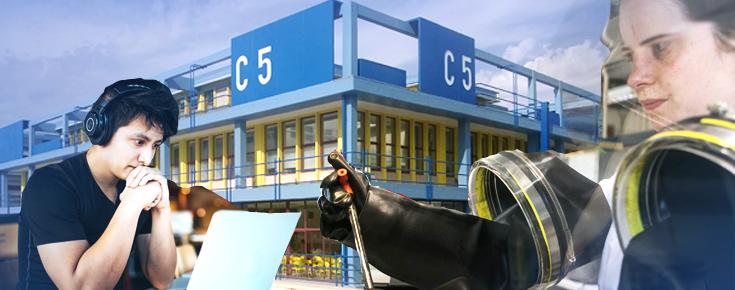 Composição fotográfica alusiva à missão da Faculdade