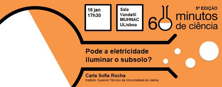 Imagem ilustrativa do evento, acompanhada de informações diversas (título, orador, dia, hora e local)