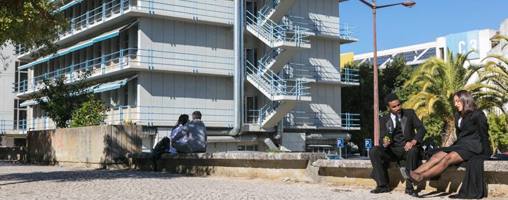 Alunos no Campus de Ciências