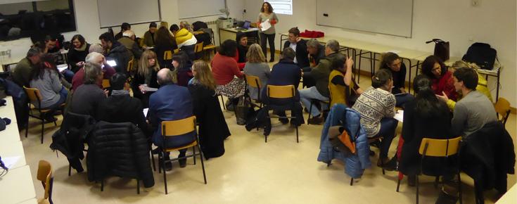 Reunião de coconstrução das Rotas da Caravana AgroEcológica no Instituto Politécnico de Viseu, em janeiro de 2020