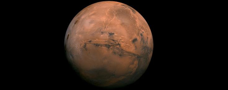Perspetiva dos Valles Marineris de Marte