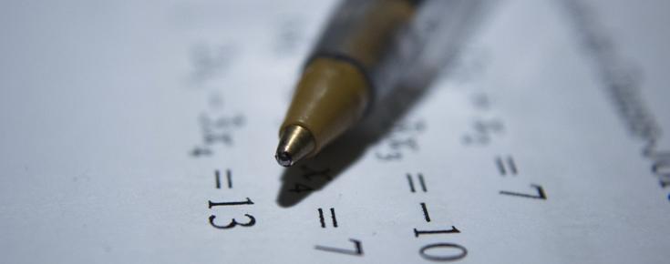 Caneta e números