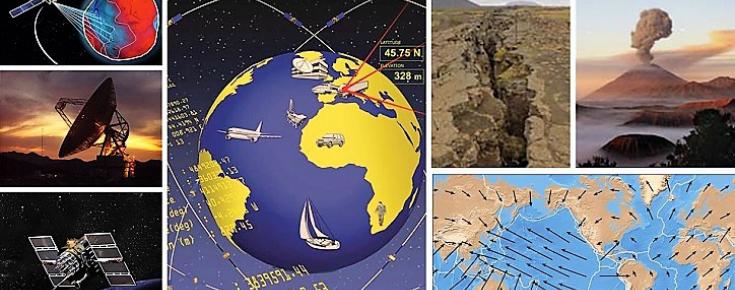 Combinação de imagens de técnicas e aplicações da Geodesia