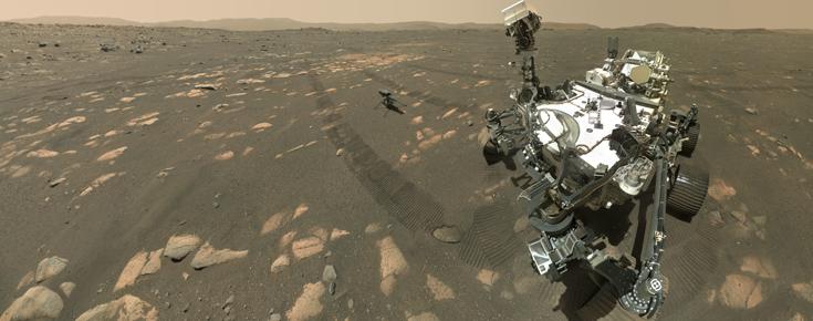 Uma aplicação mais recente da fotogrametria é a robótica com base em câmaras estéreo, usada em veículos autónomos terrestres e espaciais, como é o caso do Perseverance
