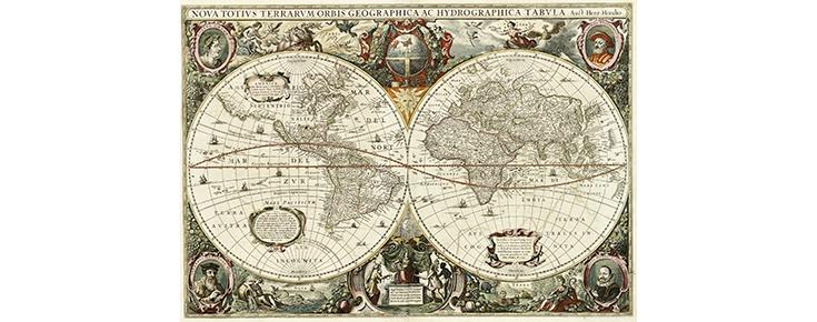 Imagem de um mapa antigo