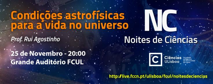 Cartaz do Noites de Ciências