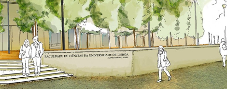Desenho do campus da FCUL