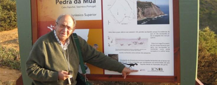 A. M. Galopim de Carvalho num dos geoparques