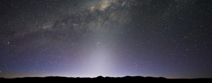 Vista da nossa galáxia: a Via Láctea