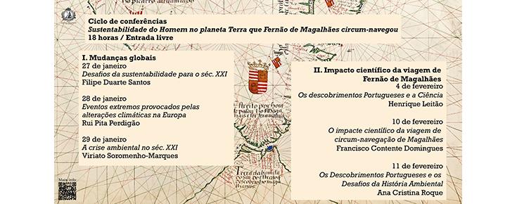 Imagem ilustrativa do ciclo de conferências, acompanhada do respetivo programa